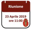 Riunione, 23 Aprile 2019 ore 11:00